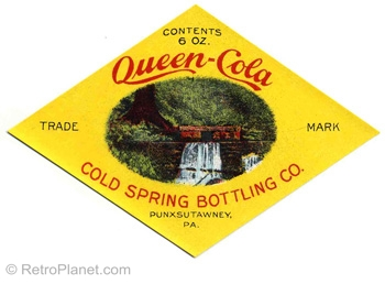 Queen Cola Bottle Label