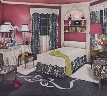 Retro 1940s Bedroom