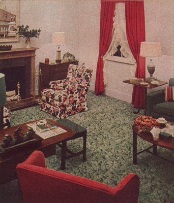 Living Room 1940s 1940s decorating: colors, fabrics, flooring, decor and more