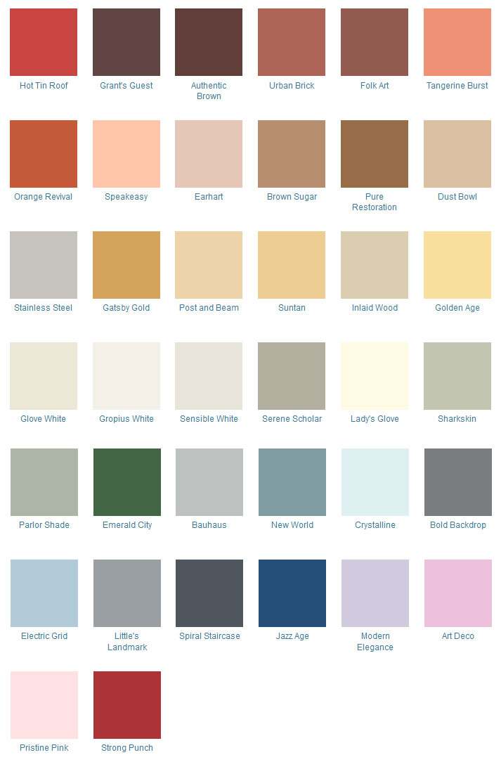 Art Deco Color Palette (source: California Paints)