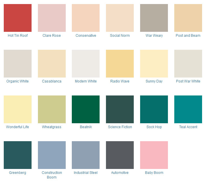 Mid Century Modern Kitchen Paint Colors