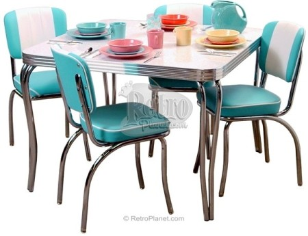 Retro Dinette Set (teal/turquoise)