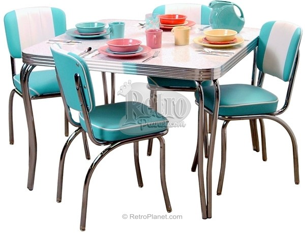 1950's chrome table and chairs 2