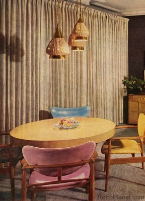 Medium image of 1950s modern dining room
