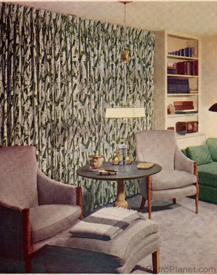 Living Room 1950s 1950s decorating style