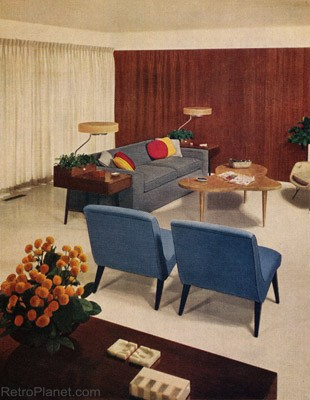 1950s decorating style for 50s living room ideas