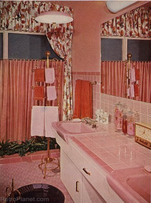 Retro Pink Bathroom