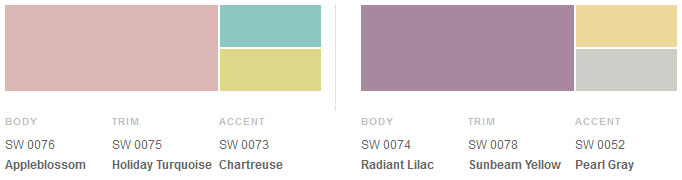 Snapshot of 1950s modern palette from Sherwin-Williams.
