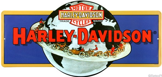 Harley-Davidson Globe Metal Sign