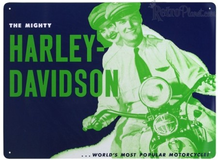 The Mighty Harley-Davidson Tin Sign