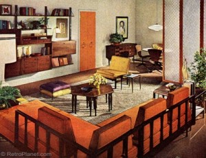 1960s decorating style for 60s office design
