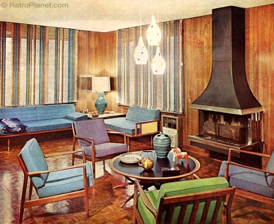 Family Room 1960s Design