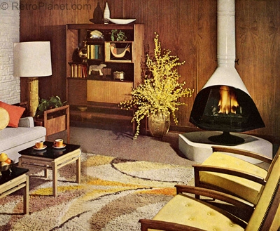 1960s decorating style for Interior design 70s style