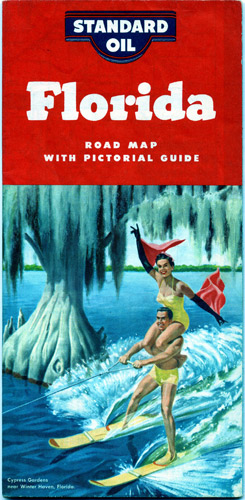 1950s Standard Oil Road Map