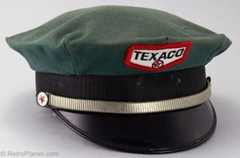 Texaco Gas Station Attendant Hat 1960s 1970s