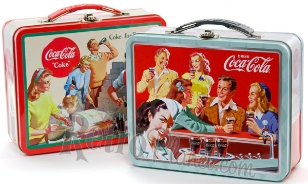 Coca-Cola Embossed Lunch Boxes