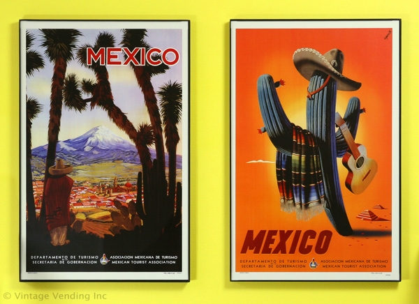 Retro Mexico Mini Travel Posters