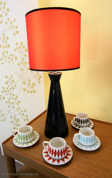 Retro Decor Espresso Cups Saucers