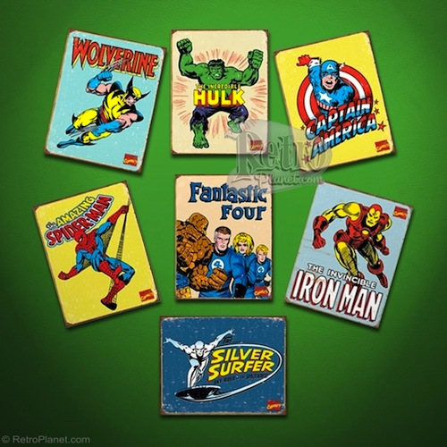 Marvel Superheroes Sign Set