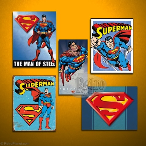 Superman DC Comics Sign Set