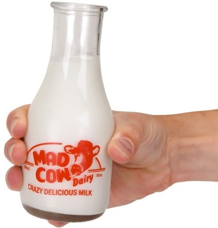 Mad Cow Milk Bottle