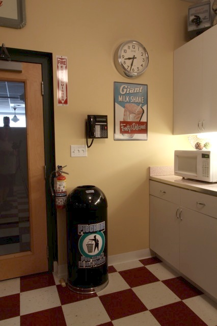 Lunch Room 50s Style Wall Clock