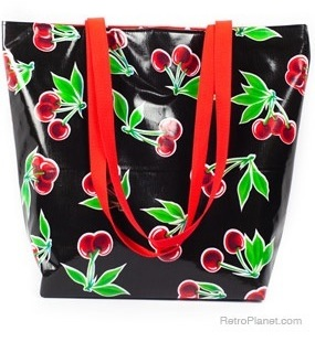 Oil Cloth Bag Retro Handbag