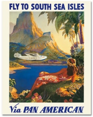 Pan Am Airlines Retro Travel Poster
