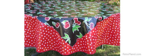 Oilcloth Table Cloths Look Retro