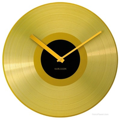 Contemporary Gold Record Clock