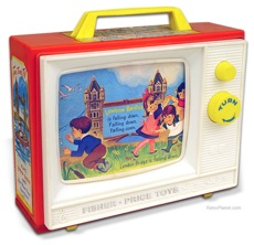 Retro Toy Wind Up Television
