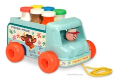 Reproduction 60s Pull Toy Milk Truck