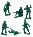 Green Plastic Army Men Retro Toy