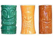 Tiki Shot Glasses Set