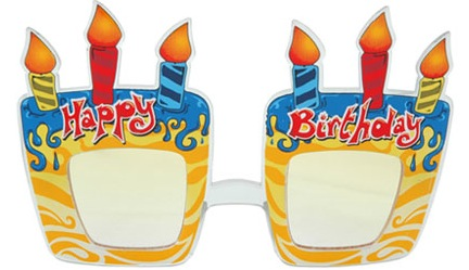 Funky Birthday Cake Glasses