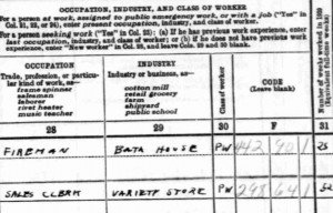 Screenshot of 1940 census