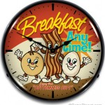 Breakfast Lighted Clock