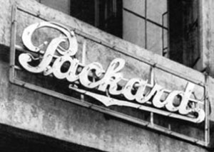 First neon sign in US.