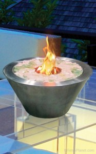 Indoor Outdoor Oasis Tabletop Fireplace