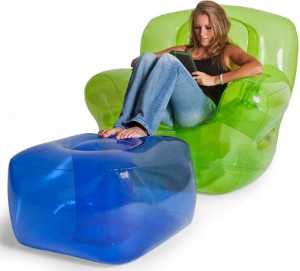 Inflatable Chair and Ottoman