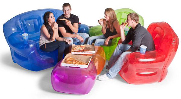 Inflatable Furniture in Retro Colors