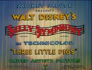 Credit Intro to Three Little Pigs Animated Film