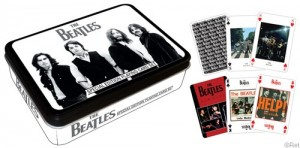 Black and White Beatles Tin & Playing Cards