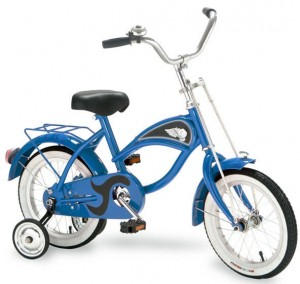 Beach Cruiser Bike with Training Wheels