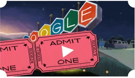 Google Doodle Screenshot: First Drive-In Theater