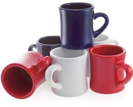 Red, White & Blue Diner Mugs