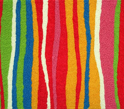 Colorful Striped Doormat