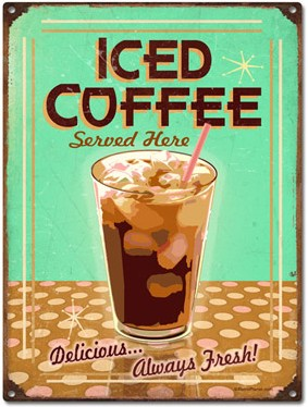 Iced Coffee Sign
