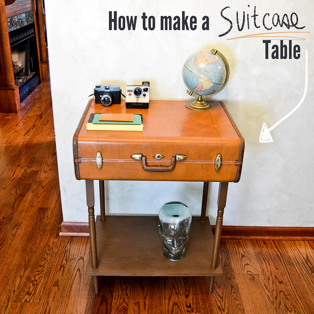 weekend diy suitcase table