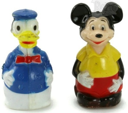 Marx Mickey Mouse Donald Duck Friction Toys